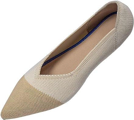 Amazon.com   Defire Women's Flats Pointed Toe Black Knit Flats Shoes Ballet  Flat Loafer Shoes Black Business Work Flats   Flats