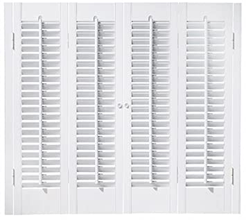 High Quality Faux Wood DIY Traditional 1 1/4u0026quot; Interior Shutter Kits (Paint Finish  White