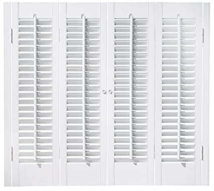 Lovely Faux Wood DIY Traditional 1 1/4u0026quot; Interior Shutter Kits (Paint Finish  White