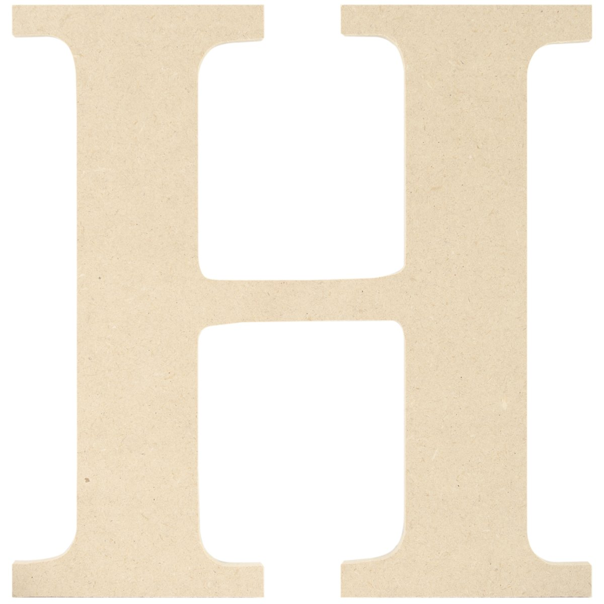 MPI MDF Classic Font Wood Letters and Numbers, 9.5-Inch, Letter H MDF9-L408