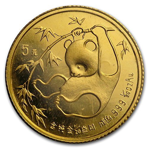 - 1982 CN - Present China 1/20 oz Gold Panda BU (Random Year, Sealed) Gold Brilliant Uncirculated