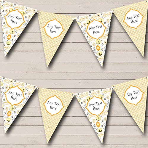 Bumble Bee Bunting - Bumble Bee Honeycomb Personalized Children's Birthday Party Bunting Banner