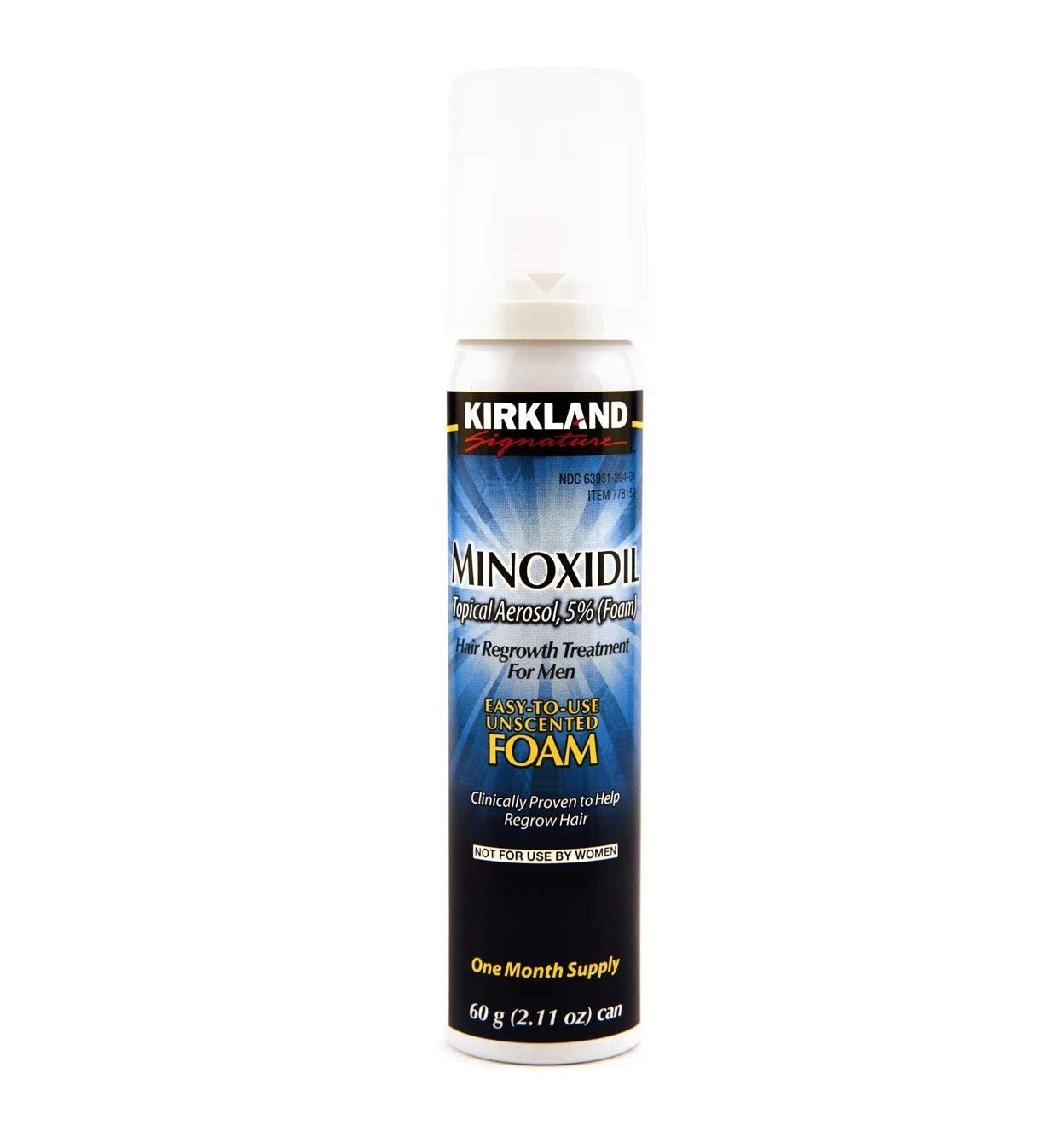 Kirkland Hair Loss Foam Mens 5% Minoxidil 1 Month Generic Locked and New 1 Can Hair Care