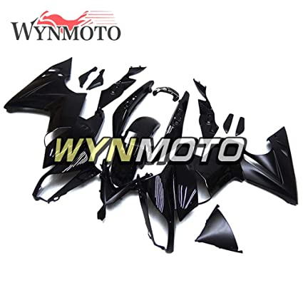 Amazon.com: WYNMOTO ABS Plastic Gloss Matte Black Motorcycle ...