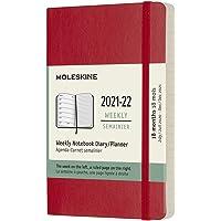 Moleskine 18 Monate Wochen Notizkalender 2021/2022, Pocket/A6, 1 Wo = 1 Seite, rechts linierte Seite, Weicher Einband…