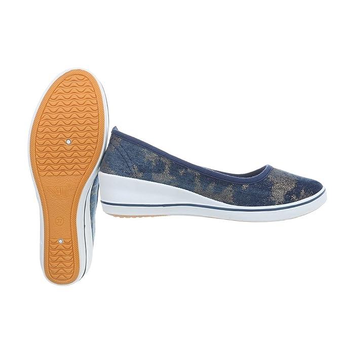 Ital-Design Zapatos para Mujer Mocasines Plataforma Slip: Amazon.es: Zapatos y complementos