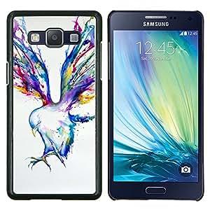 Pintura Blue Jay Arte de la acuarela- Metal de aluminio y de plástico duro Caja del teléfono - Negro - Samsung Galaxy A5 / SM-A500