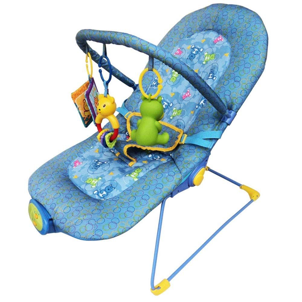 Baby rocking chair Baby Rocking Chair Soothing Rocking Chair Baby Cradle Detachable Toy And Compact Folding Storage Or Travel - Easy To Clean Suitable For Male And Female Babies A nice gift for babies by Yuehjnba