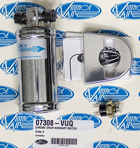 Vintage Air 07308-VUQ Chrome Drier with Binary Switch by Vintage Air