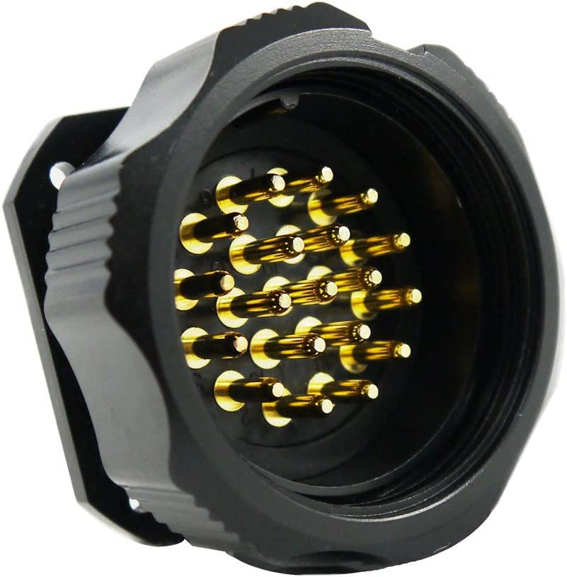 Multi-Cable Dream Leap 19 Pin Water Resistant IP66 Panel Mount Male Connector Compatible with Socapex 419 and Veam VSC connectors Break-Out Male Connector 6 Circuit