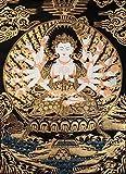 Exotic India Mother Goddess Chandi - Tibetan Thangka Painting