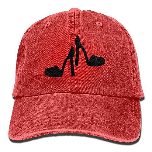 Buyiyang-01 Men's Or Women's High Heel Shoes Clip Art Yarn-Dyed Denim Baseball Hat Adjustable Street Rapper Hat from Unknown