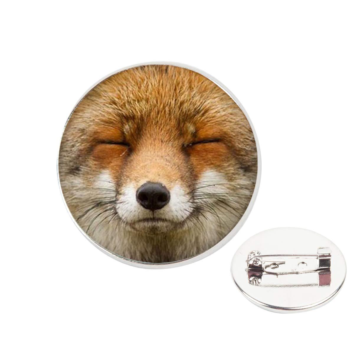 Pinback Buttons Badges Pins Cute Fox Lapel Pin Brooch Clip Trendy Accessory Jacket T-Shirt Bag Hat Shoe