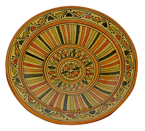 can Handmade Serving Wall Hanging Exquisite Colors Decorative 14 inches Diameter (Entertaining Wall Decor)