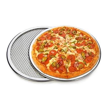 1 Pack pizza Pans perforado hornear pan 12 pulgadas ronda ...