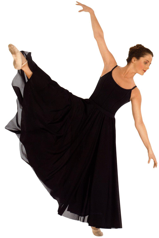 Eurotard 13674 Adult Triple Panel Lyrical Skirt,Black,One Size Fits All by Eurotard
