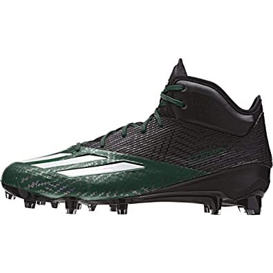 e713d4d8f3e adidas Adizero 5Star 5.0 Mid Mens Football Cleat 6.5 Black-White-Dark Green