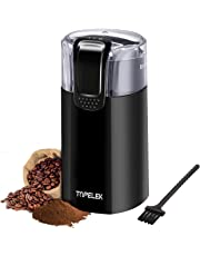 TOPELEK Coffee Grinder, Electric Coffee Bean Grinder with Noiseless Motor and 301 Stainless Steel Blades for Evenly and Versatile Grinding- One Touch Design Supports Home and Office Portable Use