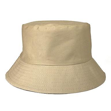 b8f4fd5e4bc Mens Ladies Unisex Cotton Bush Bucket Hat Festival Fishing Sun Beach Cap  Many Colours (Beige