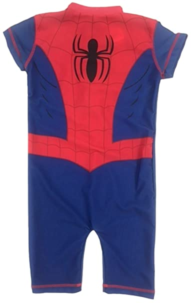 935506b4a4c77 Marvel Spider-Man Boys Swimsuit 50+ UV Sun Protection Kids Swimming Costume   Amazon.co.uk  Clothing