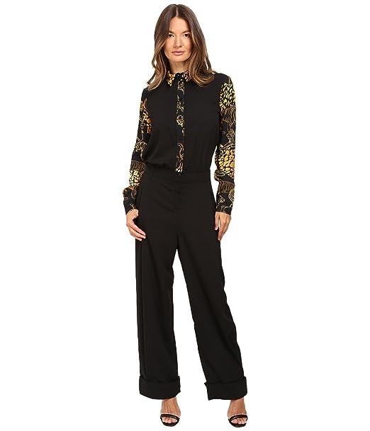 fb051693f9c8 Versace Jeans Women s Long Sleeve Jumpsuit Nero 46  Amazon.ca ...