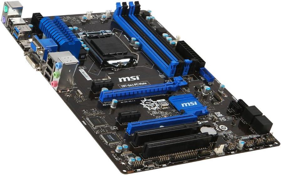 MSI ATX DDR3 2600 LGA 1150 Motherboard, Z87-G41 PC Mate