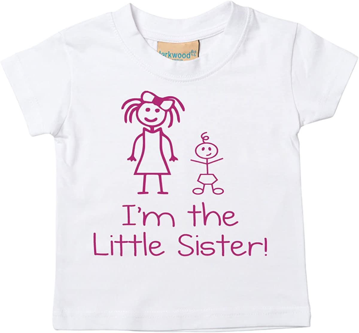 /6/mesi a 14/ /15/anni New Baby Sister Gift disponibile nelle taglie 0/ I m the Little Sister White t-shirt per bambini
