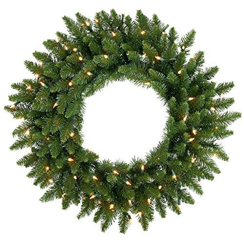 30 in. Camdon Fir Pre-lit Christmas Wreath - Pre Lit Camdon Fir Garland