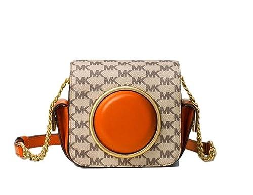 89ac8ecbe314 MICHAEL Michael Kors Scout Medium Heritage Logo Camera Bag - NAT ORANGE   Amazon.ca  Shoes   Handbags