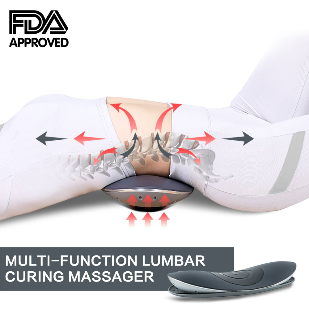 New medical patent FDA portable home electric lumbar massage traction device, the treatment unit provides relief fatigue, back pain and pain, numbness and pain in the lower limb