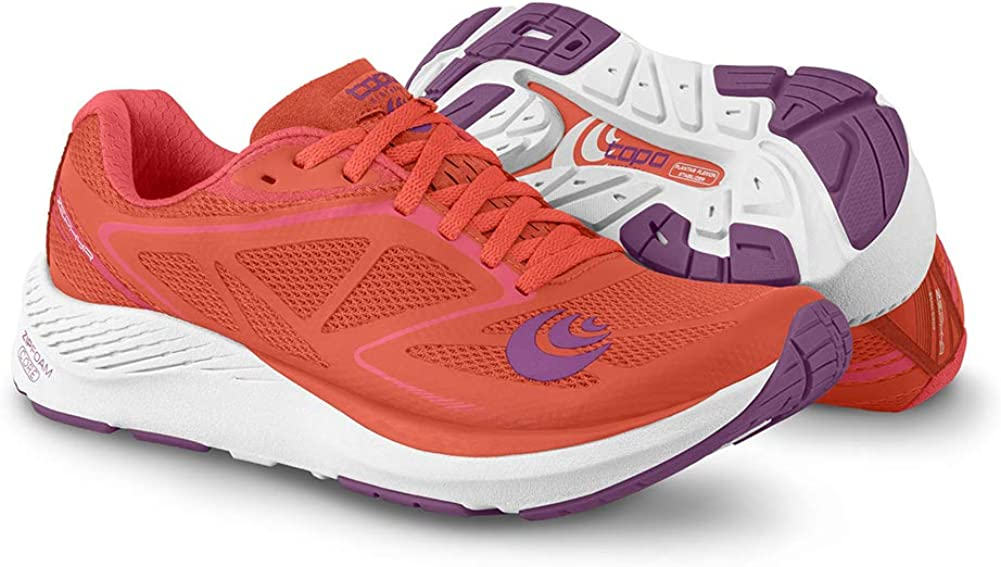 Topo Athletic Women's Zephyr Road Running Shoe Salmon/White
