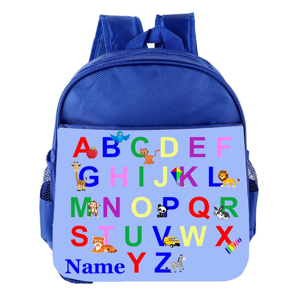 ABC Alpahabet Personalised Customised Kids Toddlers Nursery School Bag Backpack