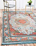 A2Z Rug Light Blue 5′ 5 x 8′ Feet St. Tropez Collection Traditional and Modern Area Rugs and Carpet Review