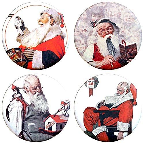 Buttonsmith Norman Rockwell Santas Refrigerator