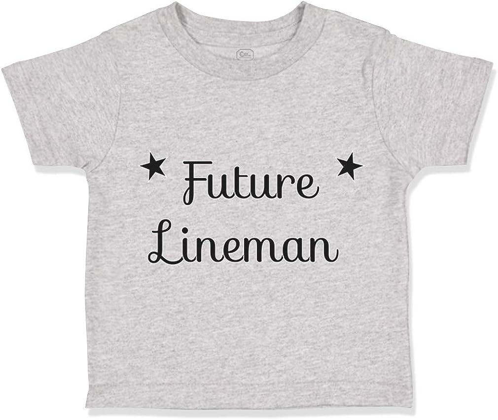 Custom Toddler T-Shirt Future Lineman Style A Cotton Boy /& Girl Clothes