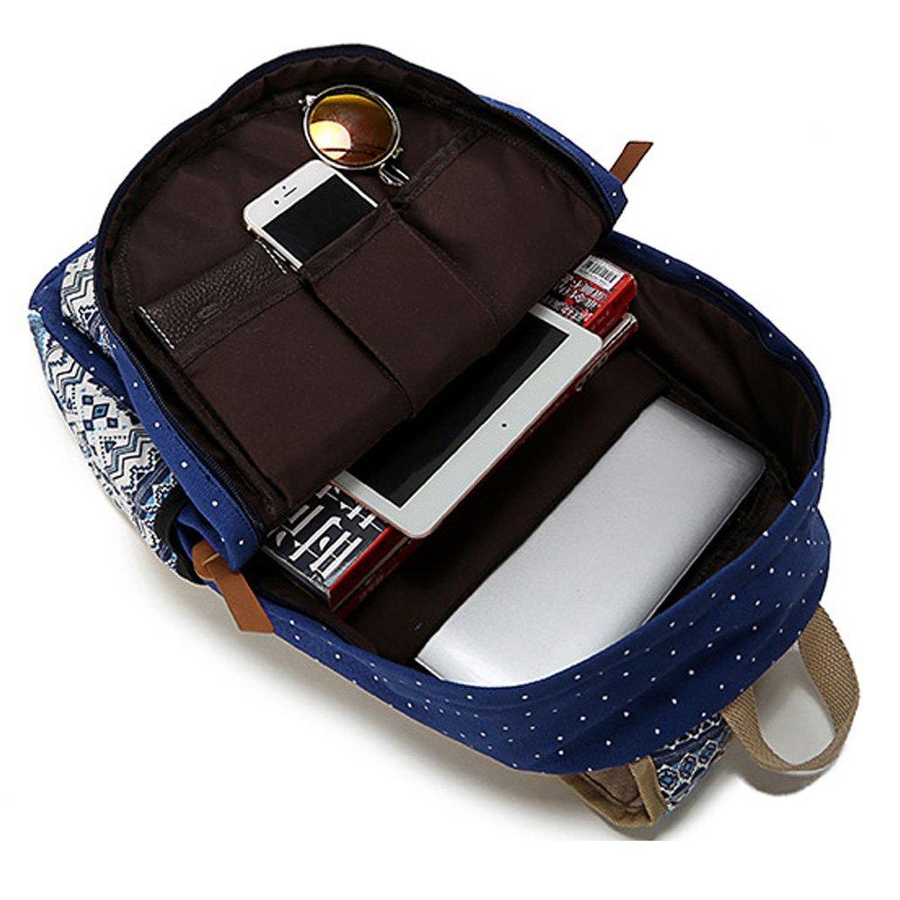 5d0536164914 Abshoo Canvas Dot Backpack Cute Lightweight Teen Girls Backpacks School  Shoulder Bags (Navy) - ZLSB0201B02   Kids  Backpacks   Clothing