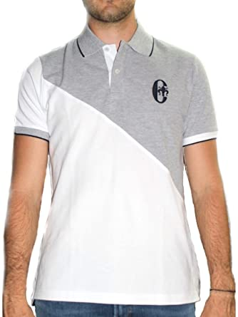 CONTE OF FLORENCE - Polo - para Hombre Gris y Blanco S: Amazon.es ...