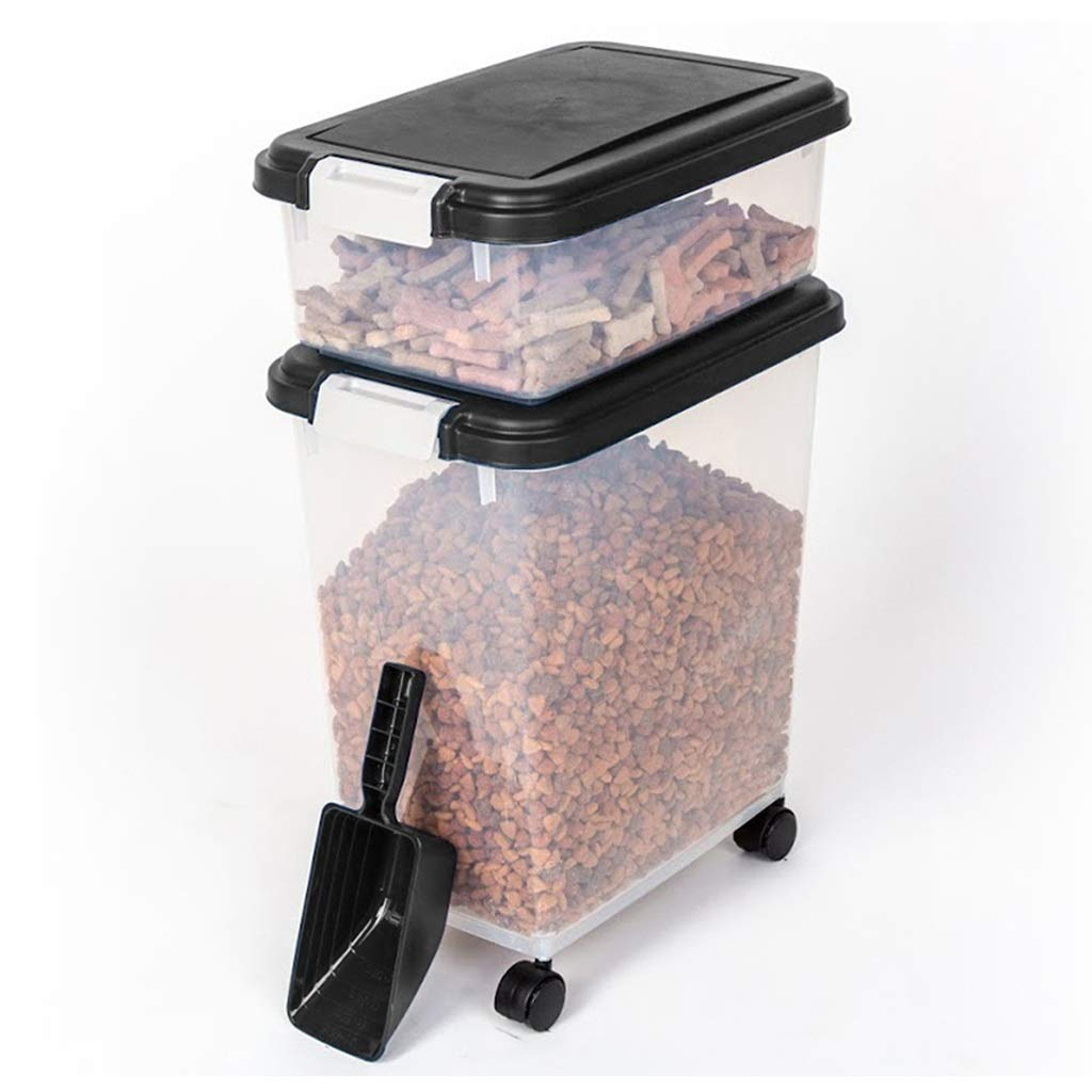 A Jlxl Pet Food Airtight Storage Container With Plastic Scoop Dry And Dispenser For And Various Small Pets (color   V)
