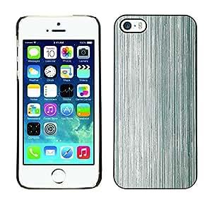 TopCaseStore / la caja del caucho duro de la cubierta de protección de la piel - Metal Texture Wood Grey Aluminium - Apple iPhone 5 / 5S