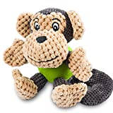 ONEISALL Dog Durable Squeaky Plush Toy Pet Training Biting Squeak Chew Toys,for Boredom Small and Medium Dogs