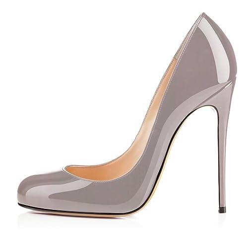 Soireelady Damen Spitze Zehe Schuhe 120mm Heel High Heel 120mm Pumps Hohen ... 61090e