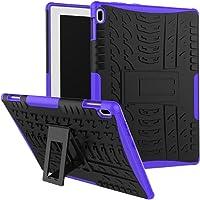 """SCIMIN Lenovo Tab 410Funda, Lenovo Tab 410Funda híbrida, Doble Capa a Prueba de Golpes híbrido Rugged Case Carcasa rígida con función Atril para Lenovo Tab 4de 10.1"""" 10(tb-x304°F), Púrpura"""