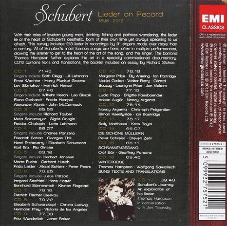 Schubert Lieder On Record 1898 2012
