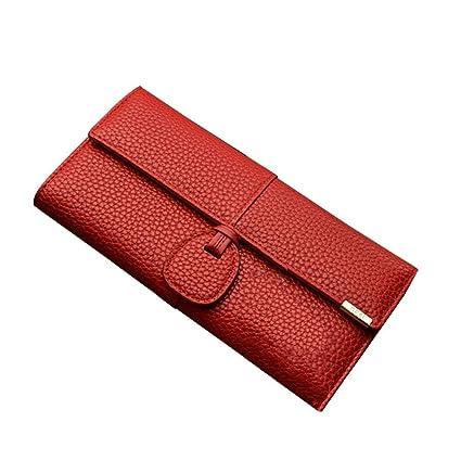 Amazon.com: Luxury Leather Wallets Women Brand Purses Woman ...