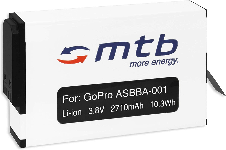 2710 mAh - 3.85V - Li-Ion reemplaza GoPro ASBBA-001 Bater/ía Compatible con GoPro Fusion