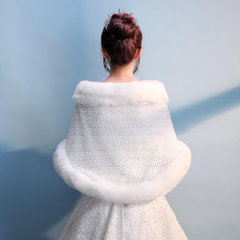 Bridal Faux Fur Shawl Sweater Cape Wrap Evening Stoles And Wraps ...
