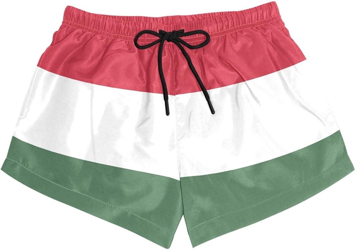 Abbylife Hungary Flag Womens Shorts Drawstring Sports Pants S-L