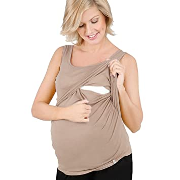 90096b37d3da2 Image Unavailable. Image not available for. Color: Women Pregnant Solid Top  Nursing Baby for Maternity Middle Sleeves Blouse