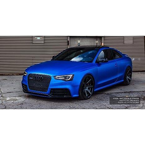 Matte Blue Car >> Amazon Com Kpmf K75400 Matte Iced Blue Titanium Metallic