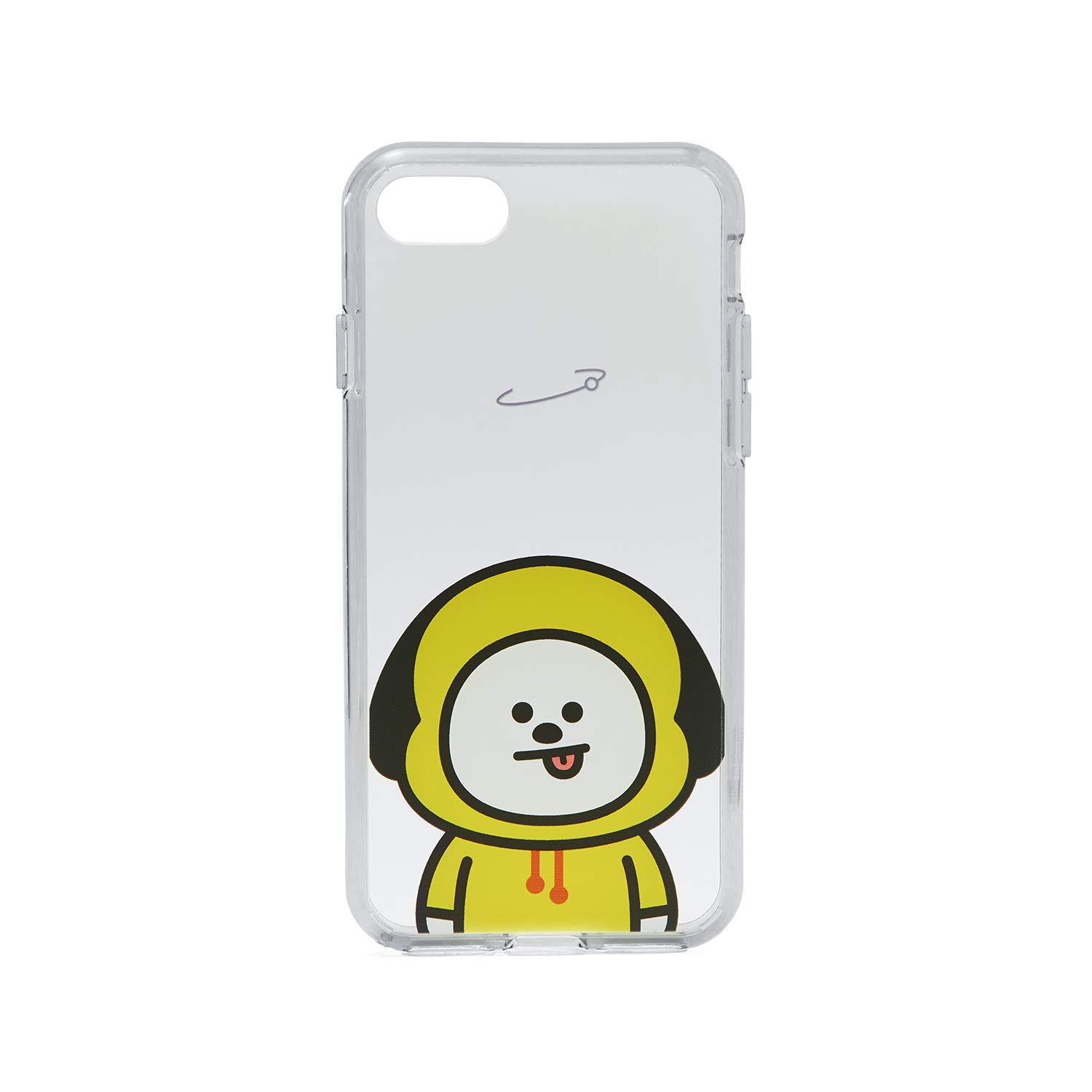 size 40 73b63 33e3d BT21 Official Merchandise by Line Friends - CHIMMY Character Clear Case for  iPhone 8 / iPhone 7, Yellow